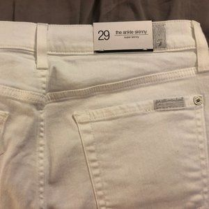 7 for All Mankind - Ankle Skinny in Clean White